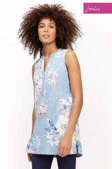 Joules Chambray Floral Tilda Printed Tunic