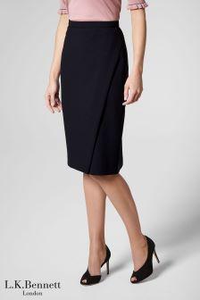 L.K.Bennett Blue Rosanne Skirt