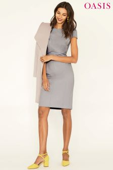 Oasis Camila Split Detail Suit Pencil Dress