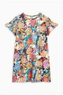 Smocked Sleeve Dress (3-16yrs)