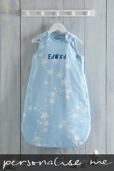 Personalised Blue Stars Sleepbag