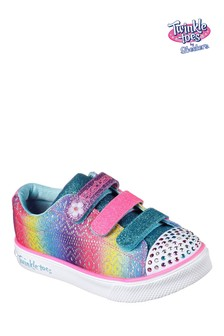 Skechers® Blue Twinkle Breeze 2.0 Sunshine Crochets Ombre Trainer