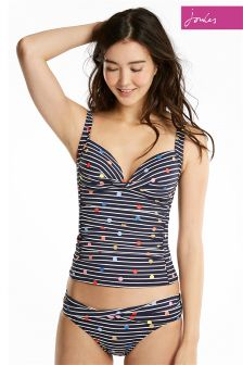 Joules Navy Stripe Fun Spot Belle Bikini Brief
