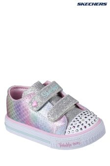 Skechers® Grey Shuffles Ms Mermaid Double Strap Lighted Shoe