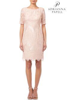 Adrianna Papell Blush Short Lace Dress