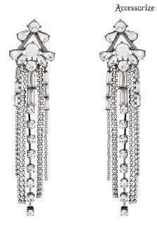 Accessorize Clear Kim Statement Sparkle Earring