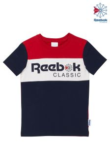 Reebok Excellent Red Archive Stripe Graphic Tee