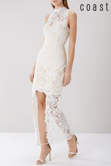 Coast White Izzy Lace Maxi Dress