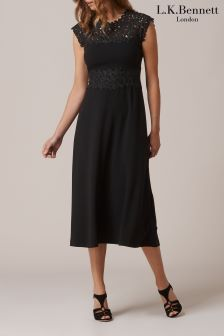 L.K.Bennett Salena Black Dress