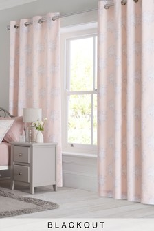 Nostalgia Floral Blackout Eyelet Curtains