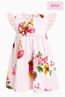 baker by Ted Baker Pink Floral Jersey Dress
