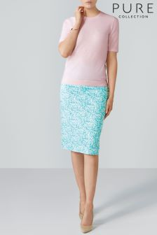 Pure Collection Blue Pencil Skirt