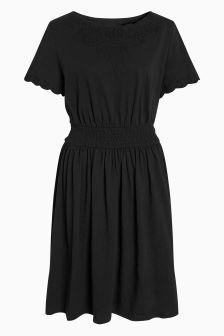 Cutwork Midi Dress