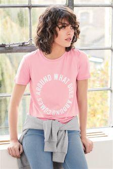 Pastel Slogan Graphic T-Shirt