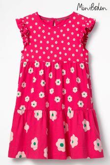Boden Pink Tiered Jersey Dress