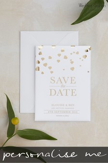 Personalised Confetti Foil Save The Date Magnet By Wedding Graphics