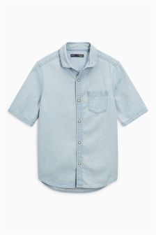 Short Sleeve Pale Shirt (3-16yrs)