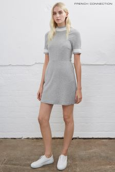 French Connection Grey Savos Sudan Textured Jersey Dress