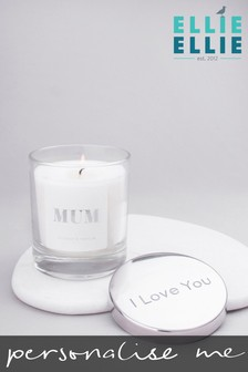 Personalised Mum Vanilla And Coconut Scented Candle By Ellie Ellie
