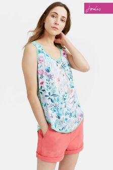 Joules Bright White Secret Garden Iris Top