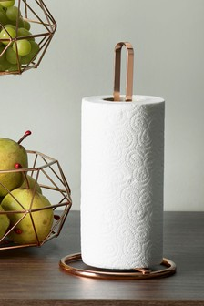 Rose Gold Kitchen Roll Holder