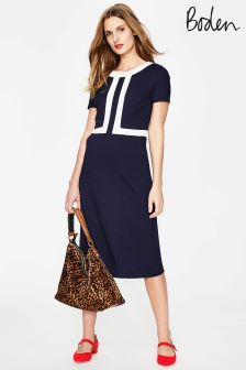 Boden Blue Joan Ponte Dress