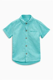 Short Sleeve Linen Rich Shirt (3mths-6yrs)