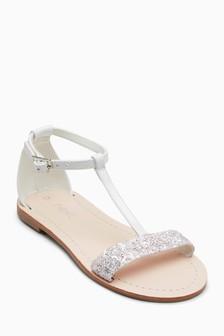 Glitter T-Bar Sandals (Older Girls)