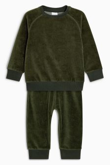 Velour Crew And Joggers Set (3mths-6yrs)