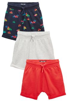 All Over Print Car Shorts Three Pack (3mths-6yrs)