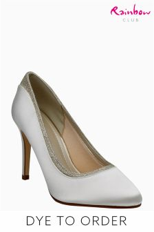Rainbow Club Ivory Satin Billie Almond Toe Court Shoe