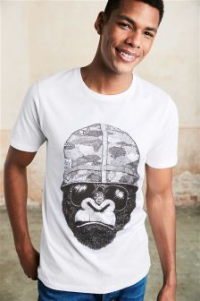 Gorilla Print T-Shirt