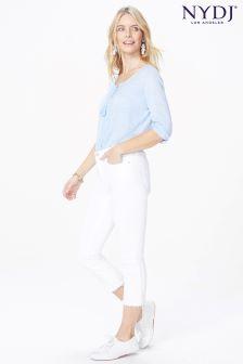 NYDJ® Optic White Capri Jean With Frayed Hems