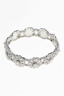Pearl Effect Ornate Expander Bracelet