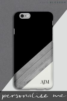 Personalised Wood Effect Tough Phone Cover by Koko Blossom