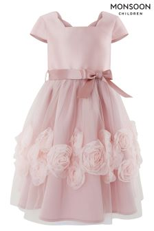 Monsoon Pink Peony Cascade Dress