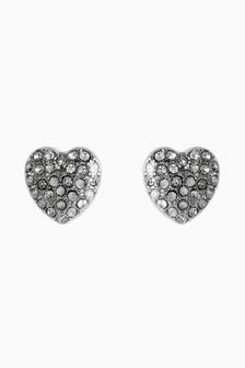 Jewelled Heart Studs
