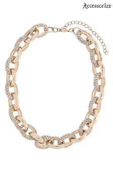 Accessorize Clear Sparkle Link Chunky Chain