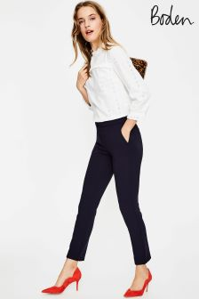Boden Navy Hampshire 7/8 Trouser