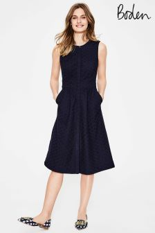 Boden Navy BN357 Leila Shirt Dress