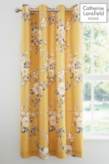 Catherine Lansfield Canterbury Pencil Pleat Lined Curtains