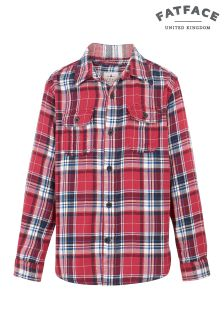 FatFace Fire Red Bramber Check Shirt