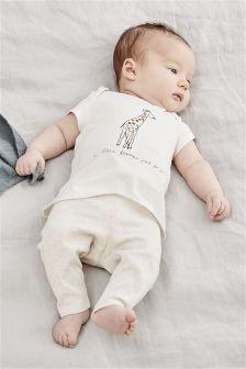 Giraffe T-Shirt And Legging Set (0mths-2yrs)