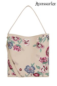Accessorize Floral Embroidered Hobo