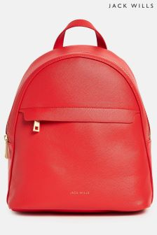 Jack Wills Bright Red Oxwich Mini Backpack