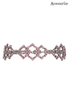 Accessorize Clear Sunita Statement Sparkle Choker