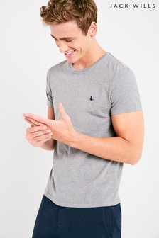 Jack Wills Grey Marl Sandleford Basic Tee