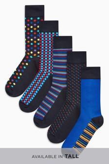 Mixed Pattern Socks Five Pack