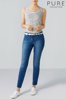 Pure Collection Blue Cropped Jean