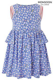 Monsoon Blue Baby Penelope Dress
